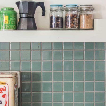 חיפוי פסיפס במטבח בית בהרצליה נוף ים